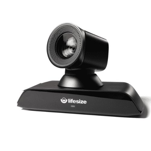 Lifesize Icon 700 mit lebensechter 4K-Bildqualität sowie ultrahoher Auflösung, Inhaltsfreigabe, leistungsstarken Kamera-Zoom und atemberaubendem Klang. Ideal zusammen mit Lifesize Phone HD, der eleganten Kommandozentrale von Lifesize. Geeignet für große Besprechungsräume.