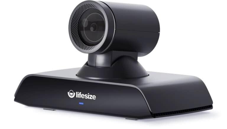 Lifesize Icon 500 mit lebensechter 4K-Bildqualität sowie ultrahoher Auflösung, Inhaltsfreigabe, leistungsstarken Kamera-Zoom und atemberaubendem Klang. Ideal zusammen mit Lifesize Phone HD, der eleganten Kommandozentrale von Lifesize. Geeignet für mittlere Besprechungsräume.