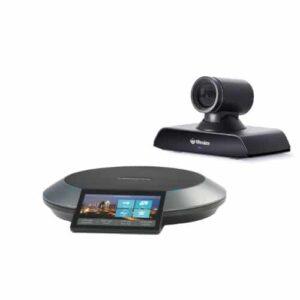 Lifesize Icon 500 mit lebensechter 4K-Bildqualität sowie ultrahoher Auflösung, Inhaltsfreigabe, leistungsstarken Kamera-Zoom und atemberaubendem Klang. Inkludiert mit Lifesize Phone HD, der eleganten Kommandozentrale von Lifesize für Audio-, Video- und Webkonferenzen. Geeignet für mittlere Besprechungsräume.