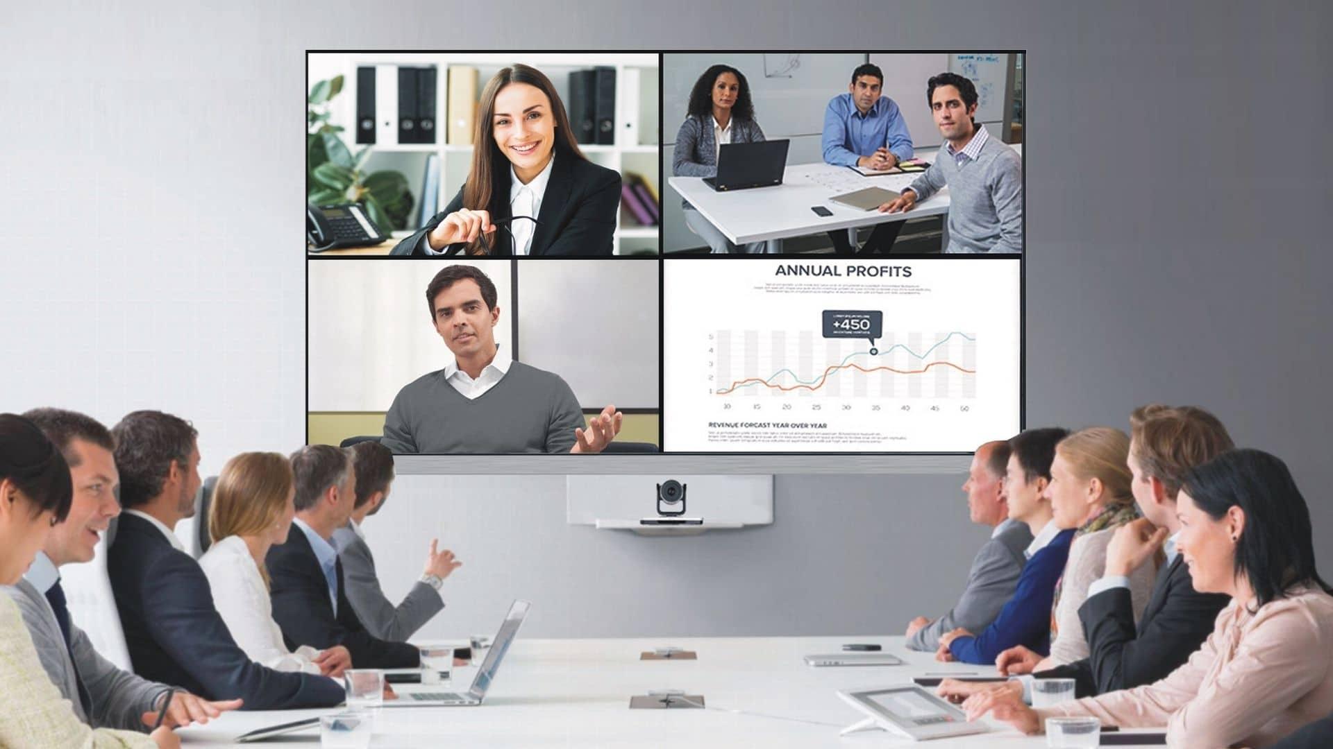 Videokonferenz-Lösungen, Medientechnik und Medienmöbel, alles aus einer Hand von conference-tv.de