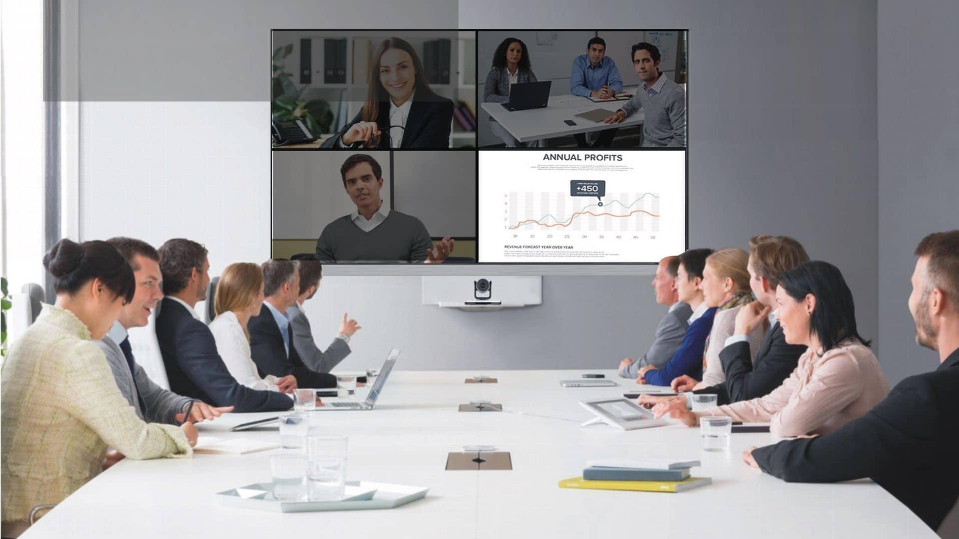 Videokonferenz und Konferenzräume benötigen qualittiv hochwertige Kameras und Beleuchtung. conference-tv bietet beides an