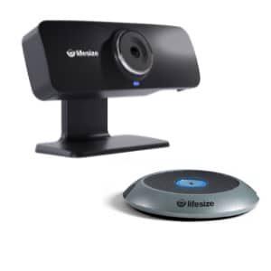 Videokonferenzsystem Lifesize Icon 300 mit Digital Mic Pod (Erweiterungsmikrofon) für kleine Besprechungsräume