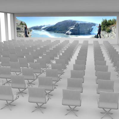 Konferenzraum mit LED Wand, Medienmöbeln